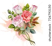 watercolor bouquet | Shutterstock . vector #726793150