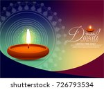 happy diwali diya oil lamp... | Shutterstock .eps vector #726793534