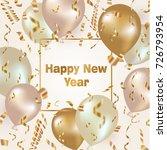 happy new year celebration... | Shutterstock .eps vector #726793954