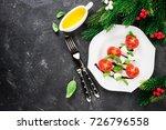 caprese salad in the shape of... | Shutterstock . vector #726796558