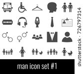 man. icon set 1. gray icons on... | Shutterstock .eps vector #726797314