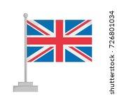 national flag of united kingdom ... | Shutterstock .eps vector #726801034