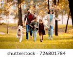 happy family with two children... | Shutterstock . vector #726801784