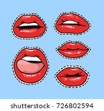 set of stickers with femme... | Shutterstock .eps vector #726802594