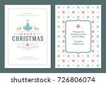 christmas greeting card design... | Shutterstock .eps vector #726806074