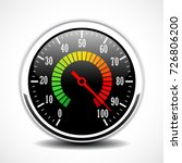 speed metering dial face vector ... | Shutterstock .eps vector #726806200