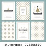 merry christmas greeting cards... | Shutterstock .eps vector #726806590