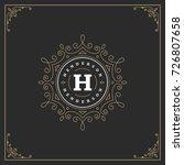ornament logo design template...   Shutterstock .eps vector #726807658