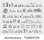 city design elements line icons ... | Shutterstock .eps vector #726809194