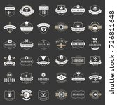 vintage logos design templates... | Shutterstock .eps vector #726811648