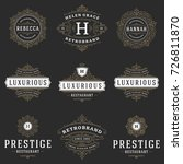 luxury logos templates set ... | Shutterstock .eps vector #726811870