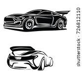 sport car vector | Shutterstock .eps vector #726812110