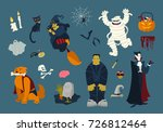 big collection of funny and... | Shutterstock .eps vector #726812464