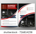 business brochure flyer design... | Shutterstock .eps vector #726814258