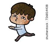 cartoon curious man   Shutterstock .eps vector #726814438
