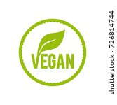vegan food icon. vector... | Shutterstock .eps vector #726814744