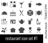 restaurant. icon set 1. gray... | Shutterstock .eps vector #726817294