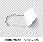 torn paper sheet  ripped edges... | Shutterstock .eps vector #726817426