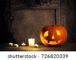 halloween still life | Shutterstock . vector #726820339