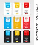 set of vector tables of prices... | Shutterstock .eps vector #726823630