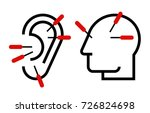 ear and head acupuncture.... | Shutterstock .eps vector #726824698