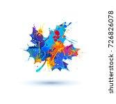 fallen maple leaf. vector icon. ... | Shutterstock .eps vector #726826078