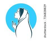 Vector Portrait Of Virgin Mary...