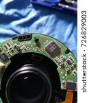 circuit inside lens | Shutterstock . vector #726829003