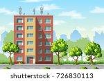 illustration of a modern family ... | Shutterstock .eps vector #726830113