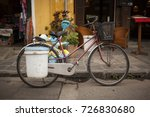 collection of bicycle parking... | Shutterstock . vector #726830680
