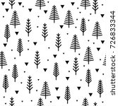 abstract forest seamless... | Shutterstock .eps vector #726833344