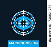machine vision vector logo... | Shutterstock .eps vector #726834274
