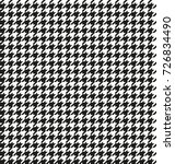 hounds tooth seamless vector... | Shutterstock .eps vector #726834490