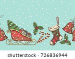 seamless background with hand... | Shutterstock .eps vector #726836944