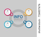 vector infographic template for ... | Shutterstock .eps vector #726837676