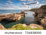 rocky cove at rumbling kern  ... | Shutterstock . vector #726838000