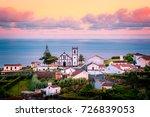 beautiful pink stunning sunrise ... | Shutterstock . vector #726839053