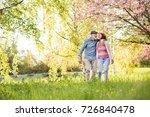 beautiful senior couple in love ... | Shutterstock . vector #726840478