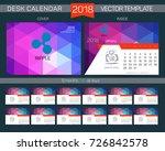 calendar 2017. design desk... | Shutterstock .eps vector #726842578