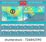 calendar 2017. design desk... | Shutterstock .eps vector #726842590