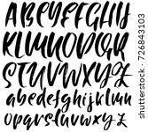 hand drawn font. modern brush... | Shutterstock .eps vector #726843103