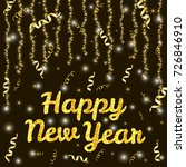 gold text happy new year and... | Shutterstock .eps vector #726846910