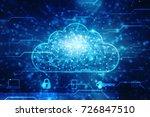 2d rendering cloud computing ... | Shutterstock . vector #726847510