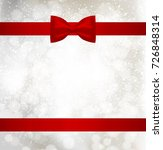 christmas background with red... | Shutterstock .eps vector #726848314