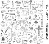 hand drawn doodle canada icons... | Shutterstock .eps vector #726848746