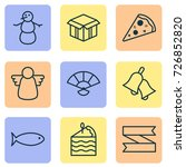 happy icons set. collection of... | Shutterstock .eps vector #726852820