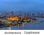 the beauty of the landmark... | Shutterstock . vector #726854644