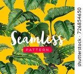 bright tropical seamless... | Shutterstock .eps vector #726854650