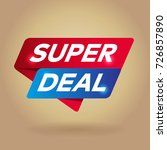 super deal arrow colored tag... | Shutterstock .eps vector #726857890