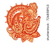 seamless paisley pattern in... | Shutterstock .eps vector #726858913